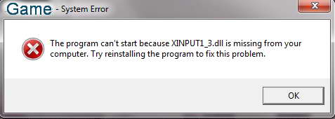 fix xinput1_3.dll for Enforcer: Police Crime Action